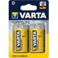 Bateria cynkowa Varta R20 SUPERLIFE - blister 2 szt