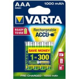 Akumulator Varta HR 3 1000 mAh ready 2 use - blister 4 szt. / pudełko 40 szt.