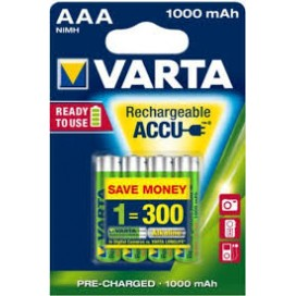 Varta rechargeable battery HR3 1000 mAh ready 2 use - blister of 4
